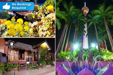 [40% Off] KL Tower: Observation Deck + Cultural Village + Mini Theatre + Blue Coral Aquarium for…